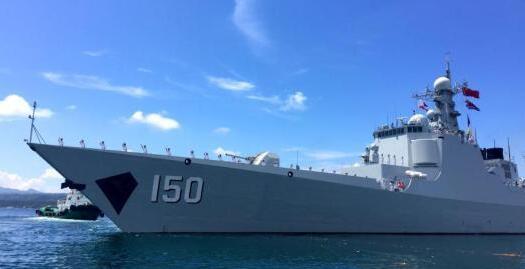 美国驱逐舰进入中国领取
